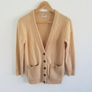 Madewell Wallace 100% Cashmere Cardigan Sweater S